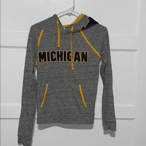 PINK hooded long sleeve Michigan shirt